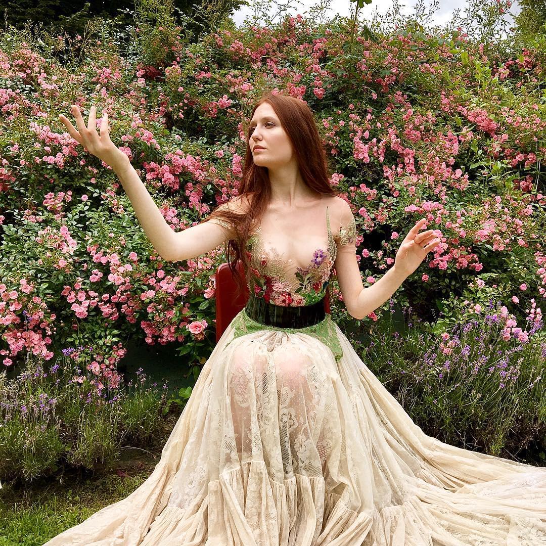Robe inspiration Sylvie Facon, robe fleurie