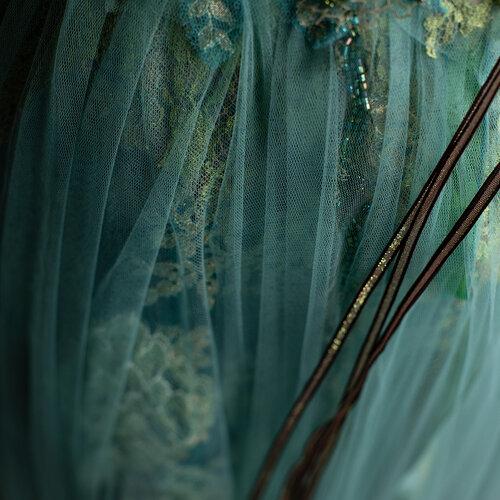Robe bouquet de roses Sylvie Facon