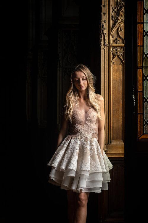Petite robe blanche Sylvie Facon