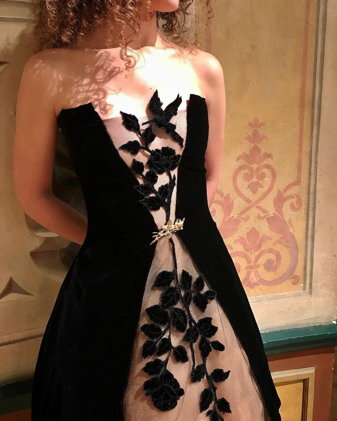 Petite robe noire Sylvie Facon, les colibris