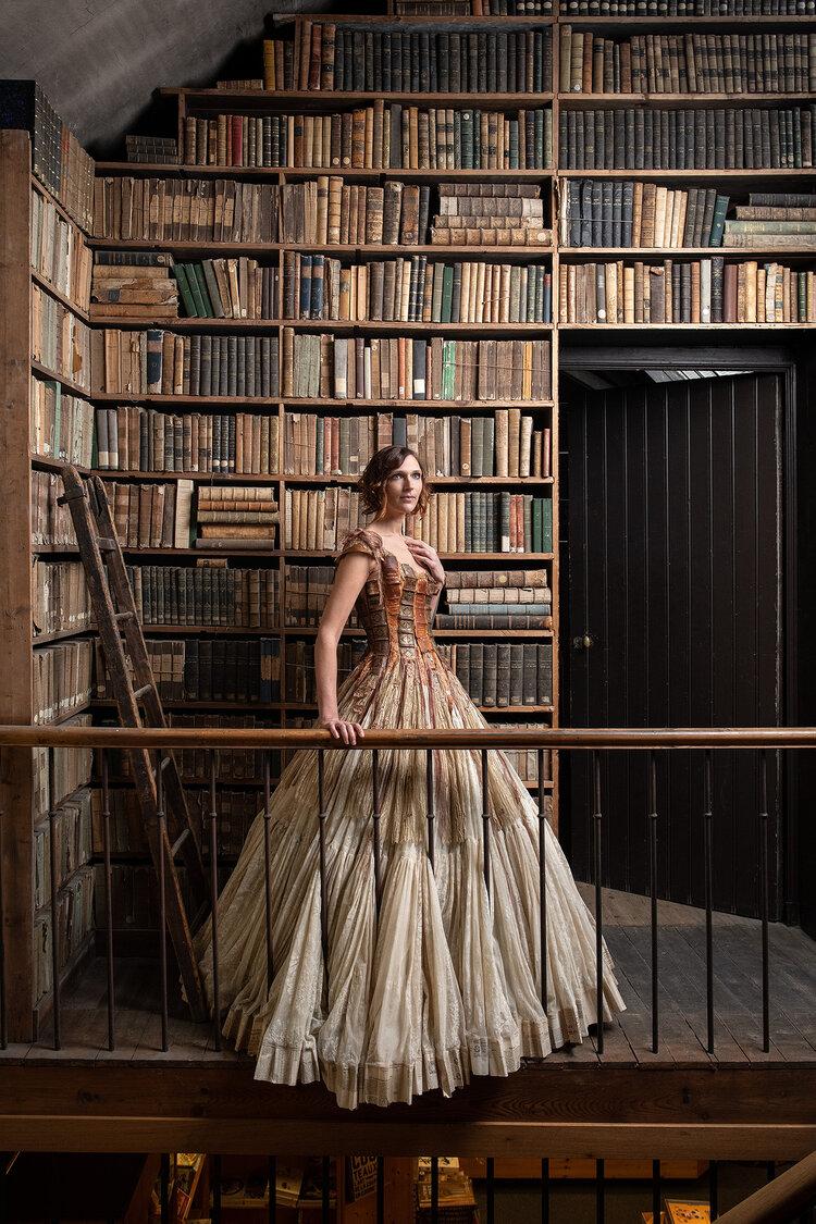 Sylvie Facon, robe livre, photo: Charles Delcourt