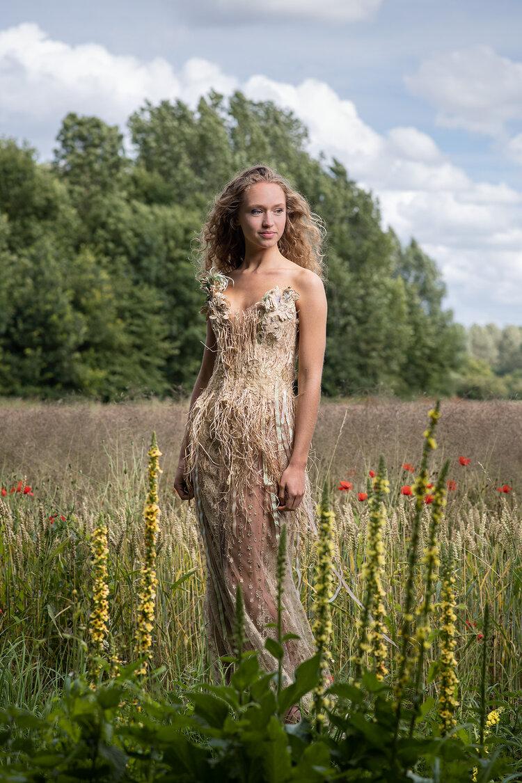 Sylvie Facon, robe champêtre, photo: Charles Delcourt
