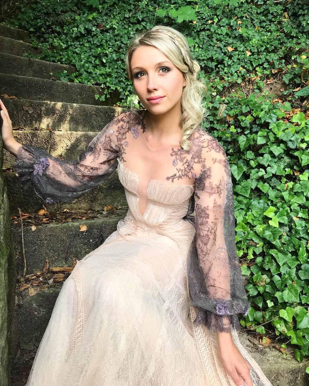 Robe de soirée Sylvie Facon, robe en dentelle
