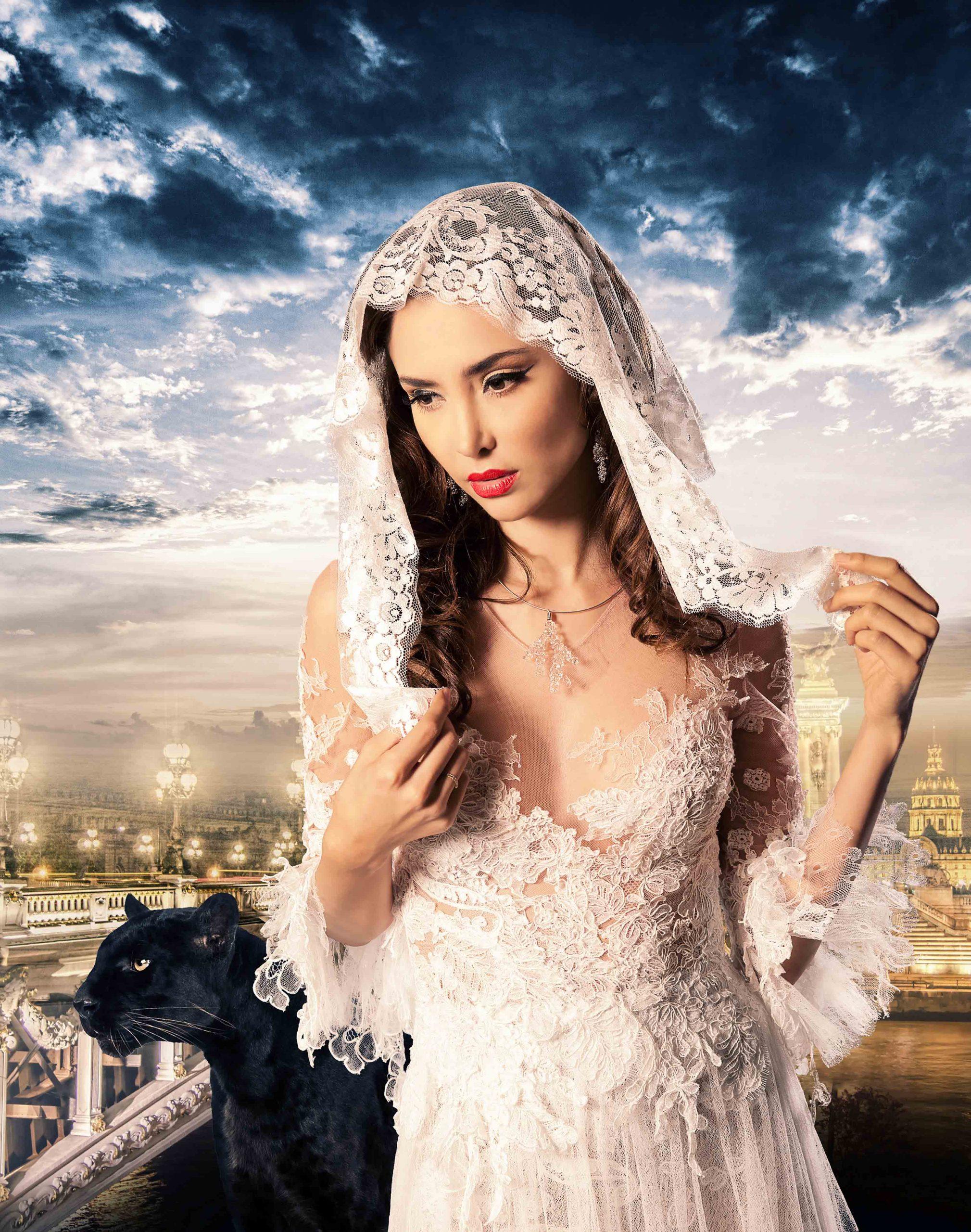 Robe de mariée Sylvie Facon, dentelle