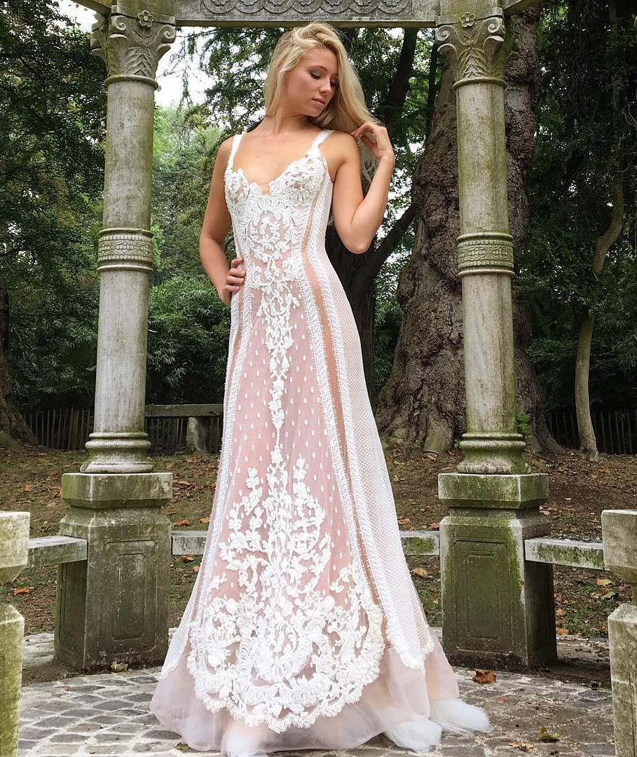 Robe de mariée Sylvie Facon, dentelles de calais