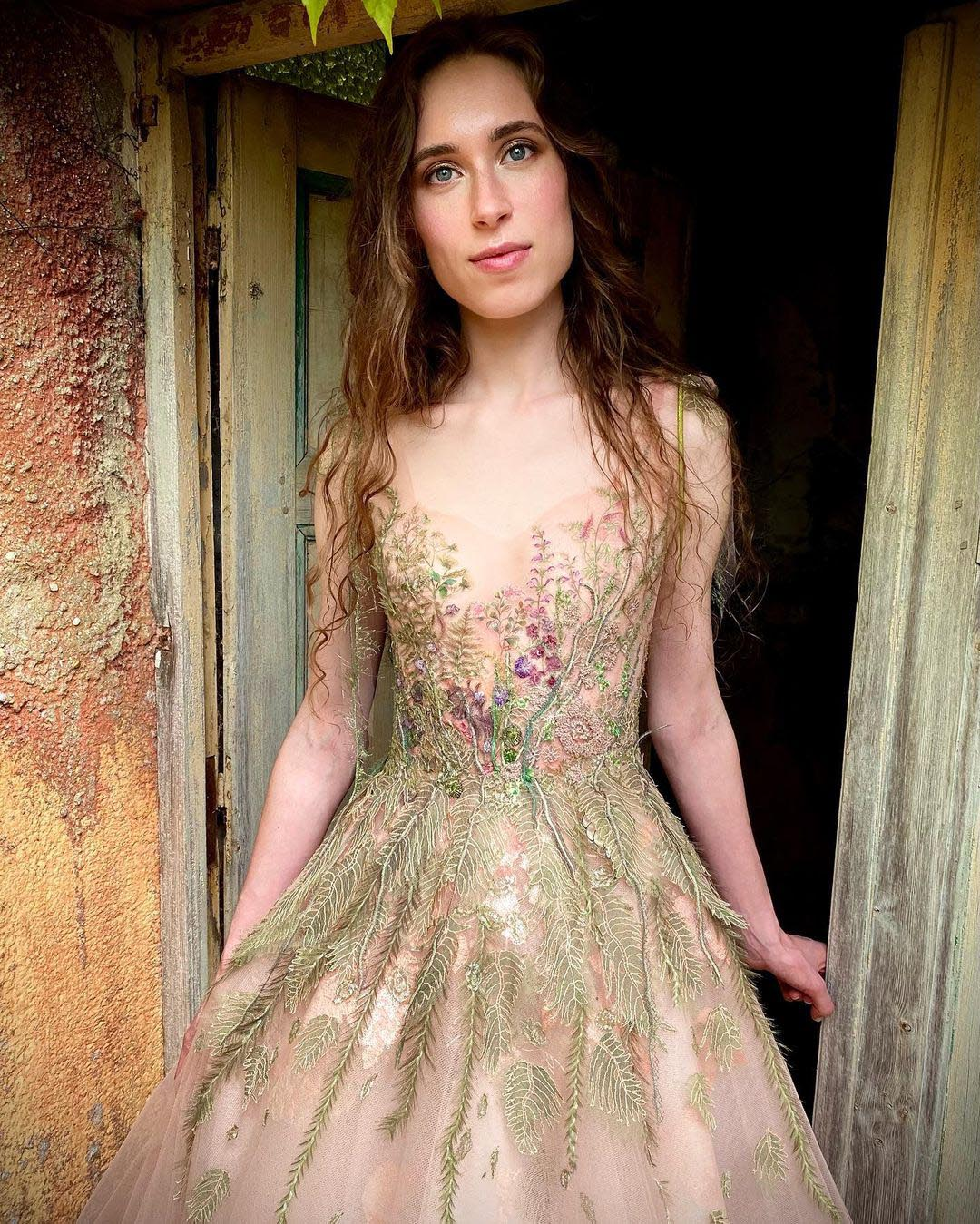 Robe inspiration Sylvie Facon, robe fleurie, mousseline