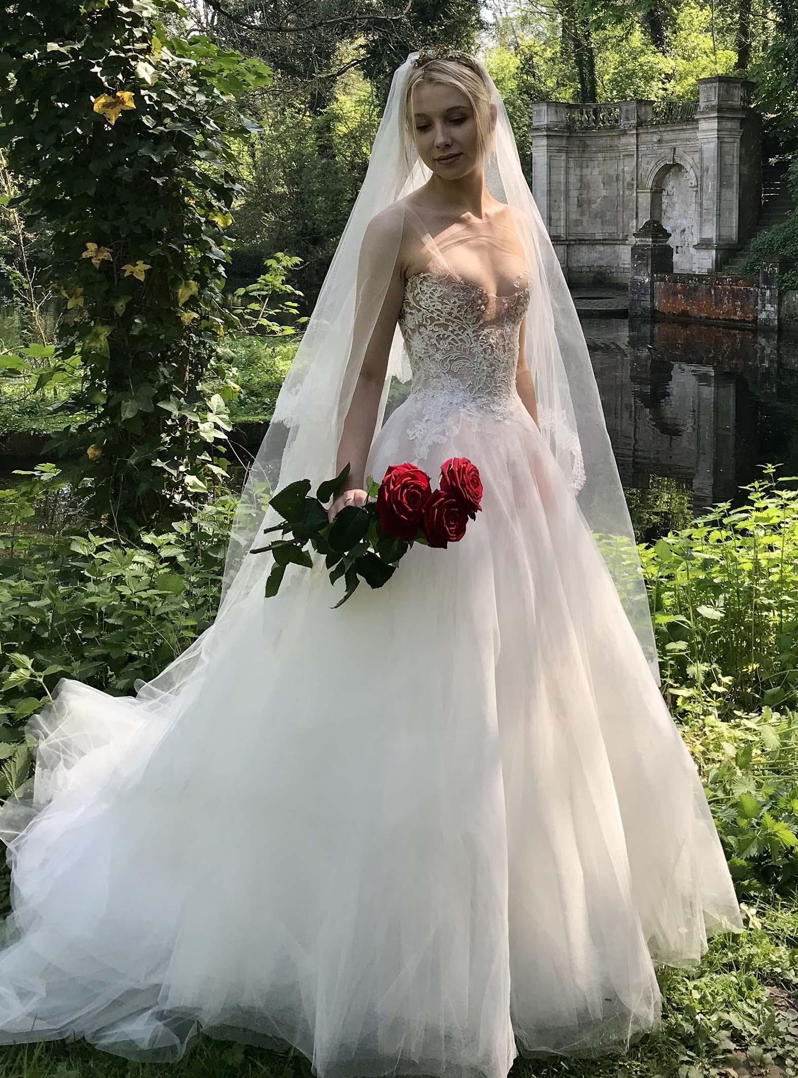 Robe de mariée Sylvie Facon, dentelle perlée