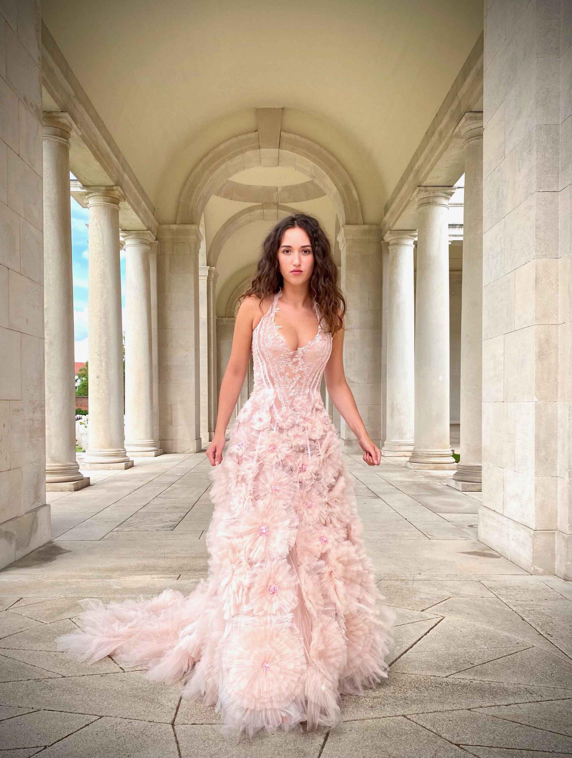 Robe de mariée disponible, Sylvie Facon, Floraison textile