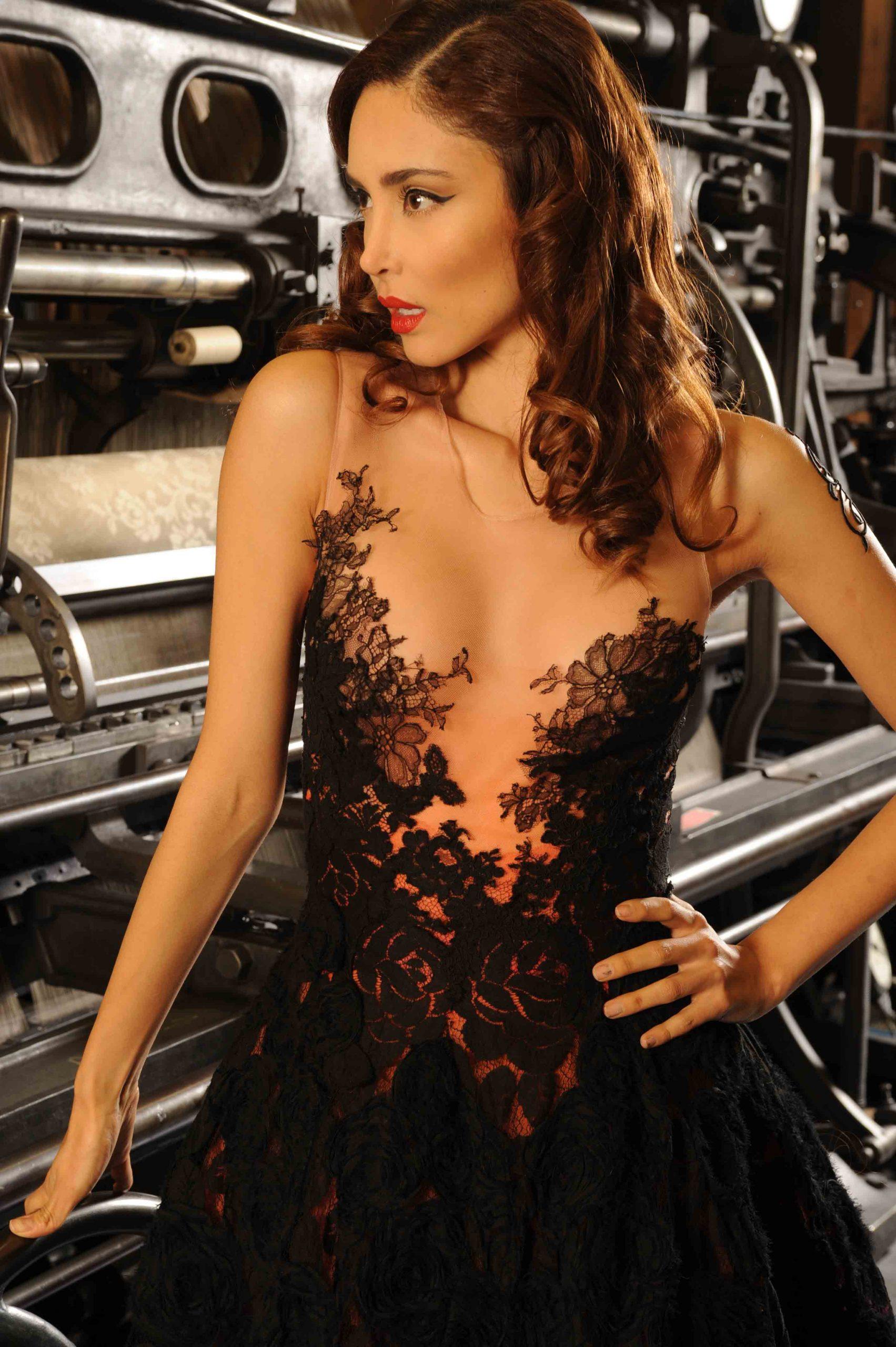 Robe disponible, Sylvie Facon, robe de soirée, la petite robe noire