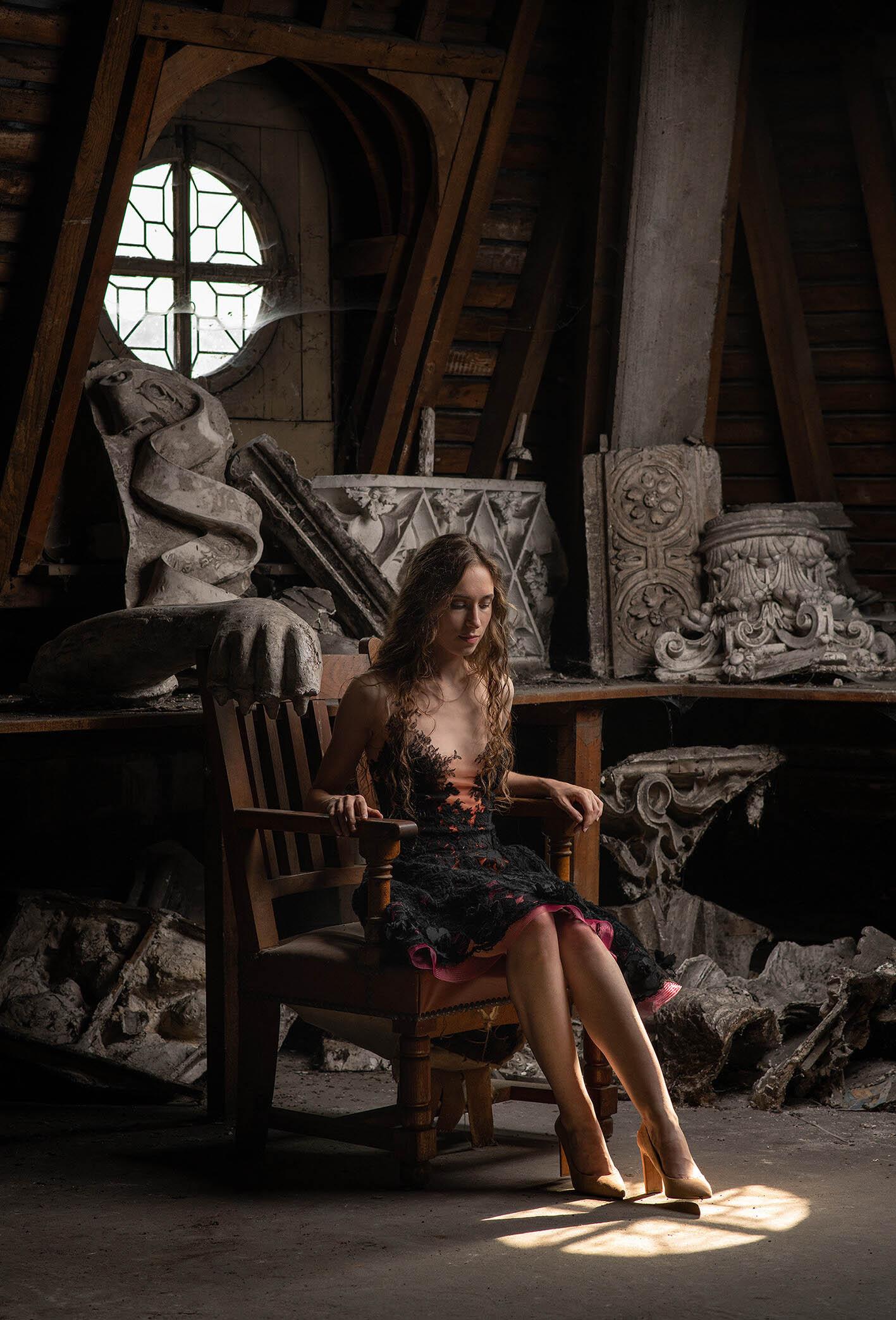 Robe de soirée disponible, Sylvie Facon, la petite robe noire